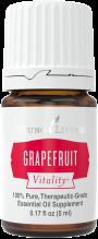 bottle of Grapefruit Vitality essential oil