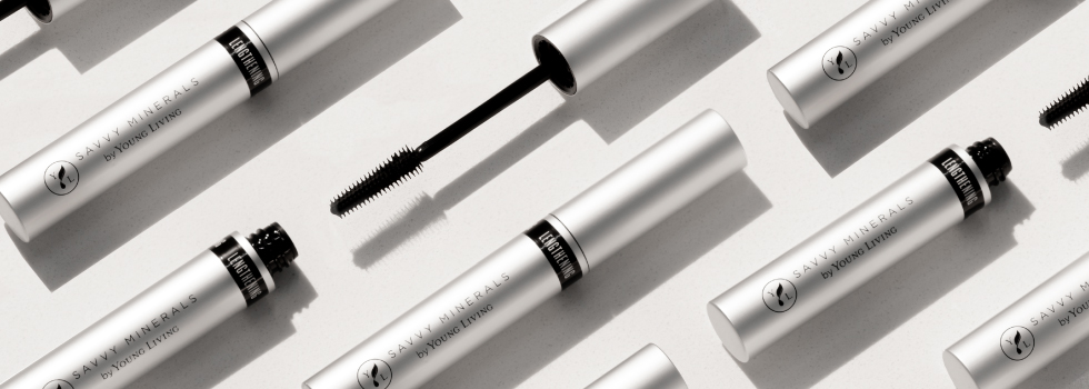 several tubes of savvy minerals lengthening mascara lined up