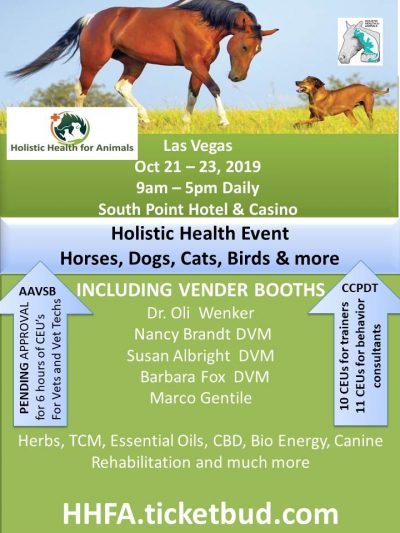 Holistic Health for Animals! You just got to go!