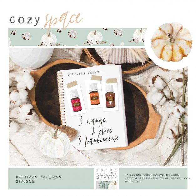 Grab your book! Find your space!  Enjoy this fall diffuser blend