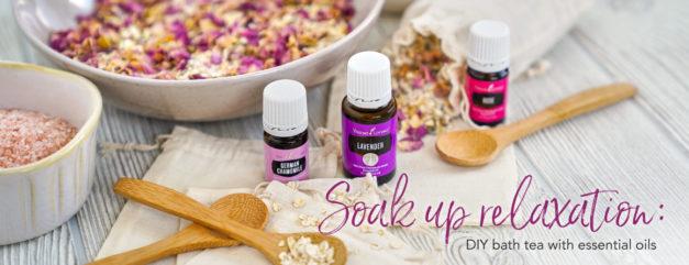 Soak up relaxation: DIY Bath tea with essential oils