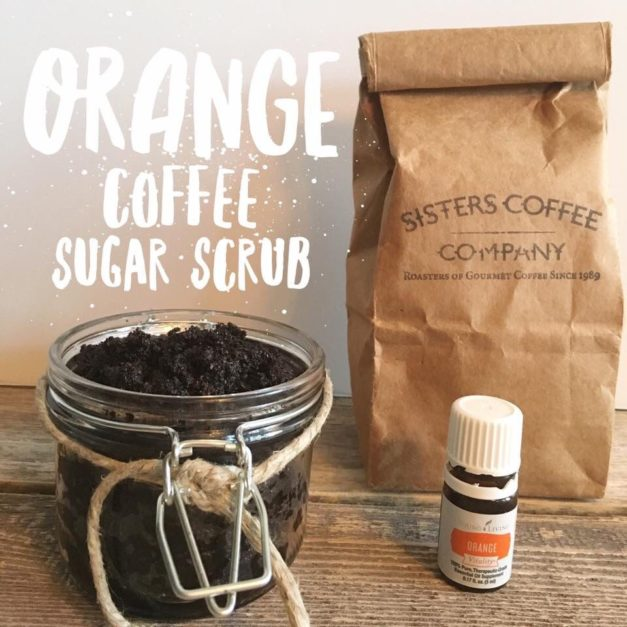 Orange and Coconut Coffee Scrub…At a fraction of store bought!