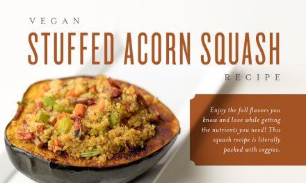 Vegan Stuffed Acorn Squash Recipe