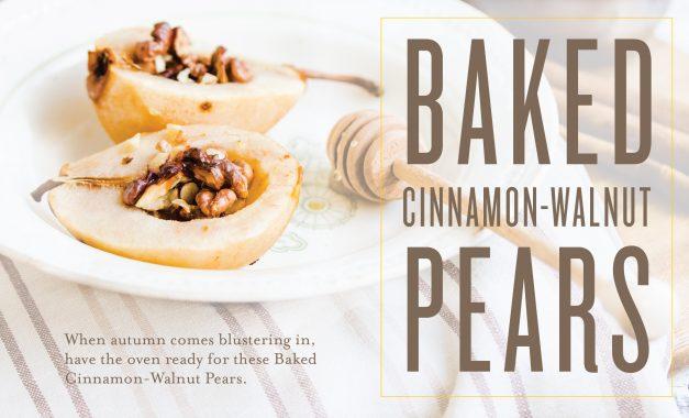 Baked Cinnamon-Walnut Pears [Video]