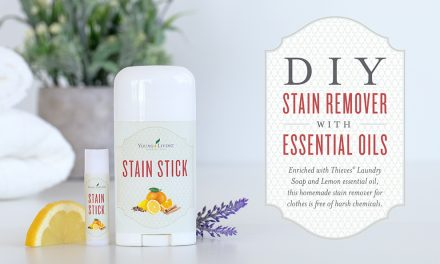 DIY stain remover with essential oils